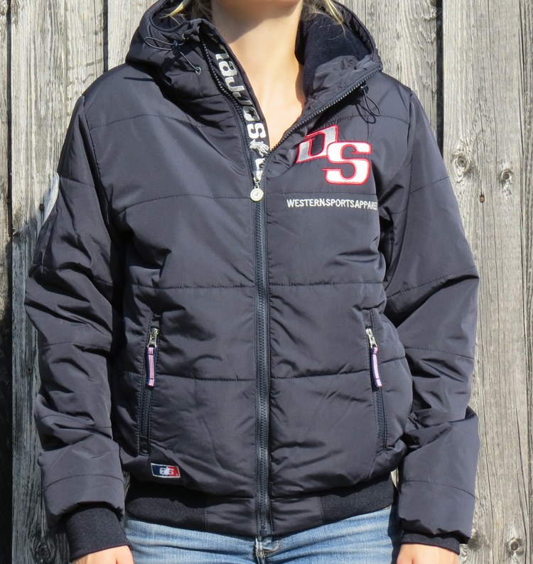 Old Sorrel Women Hooded Winter Jacket Samantha Navy