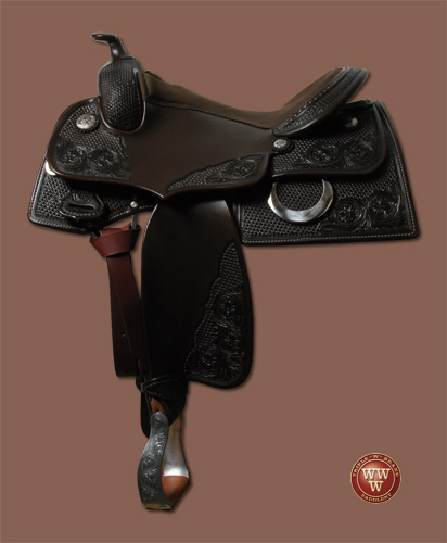 Square Big Pointed Reining Saddle