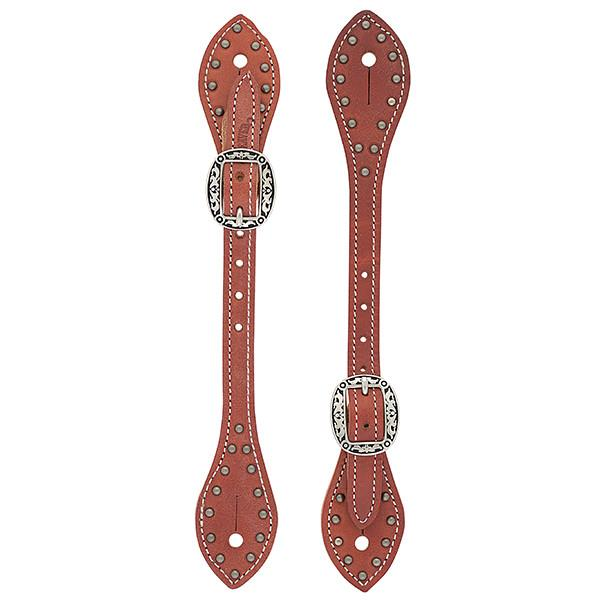 Kannusremmit Weaver Flared Buttered Harness Leather Spur Straps