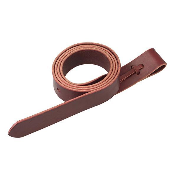 Vastinhihna pitkä Latigo Tie Strap with Holes Burgundy