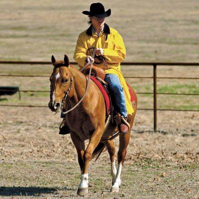Saddle Slicker Yellow sadetakki