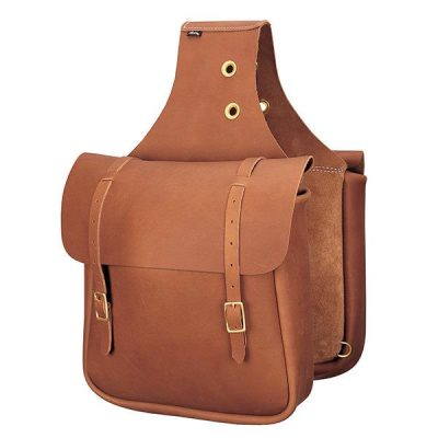 Satulalaukku Chap Leather Saddle Bag Brown