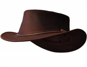 Hattu Bushfire Leather Hat Yallingup