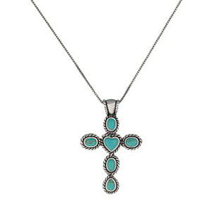 Koru Riipus Turquoise Stone Cross