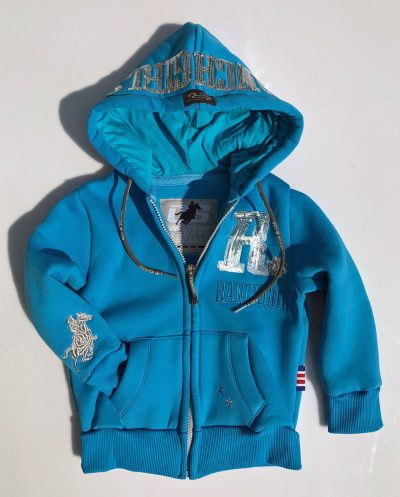 "Ranchgirl Kids Hooded Jacket ""Shiny"" turkoosi lasten huppari"