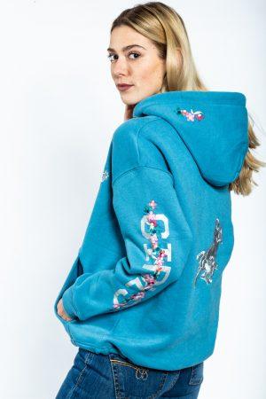 """Ranchgirl Hooded Jacket """"Bellaa"""" niagara blue huppari"""