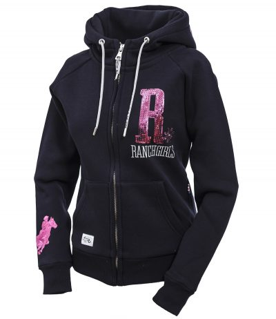 "Ranchgirl Hooded Jacket ""Shiny"" navy/pink huppari"