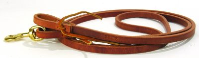 Roping Ohja Schutz Harness Leather Rein with Waterloops