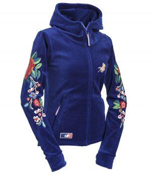 """OSWSA Women Polarfleece Jacket """"Fleur"""" Royal"""