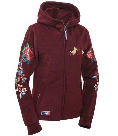 """OSWSA Women Polarfleece Jacket """"Fleur"""" Wine"""