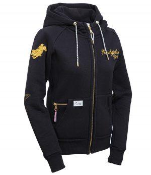 "Ranchgirl Hooded Jacket ""Shiloh"" black/gold huppari"