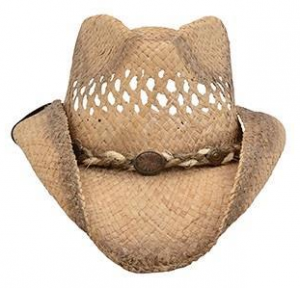 Olkihattu Alamo Raffia Hat with Hondo Crown