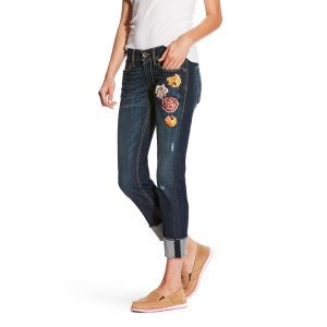 Farkut Ariat Women's Boyfriend Bloom Stackable Straight Jeans