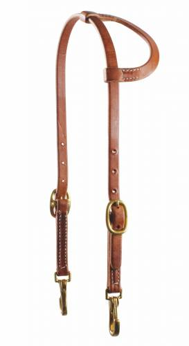 Yhden korvan suitset pikalukoilla Snap Cheek One Ear Headstall