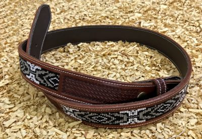 Vyö GVR Belt with Beads Black Basket Tooling