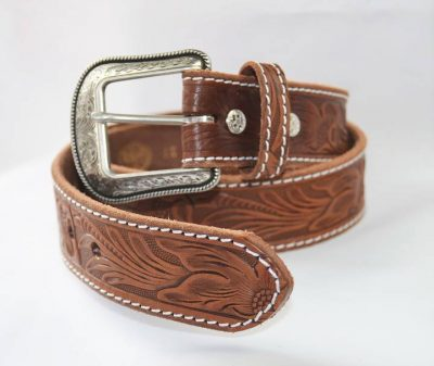 Vyö 3D Belt western Classic Brown Floral