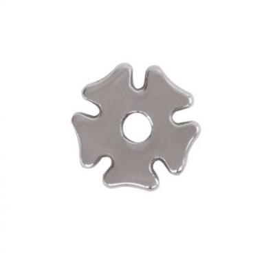 "Rissa Rowel Stainless Steel Clover Leaf 7/8"""