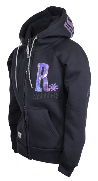 Ranchgirl Hooded Jacket Shiny carbon/lilac huppari