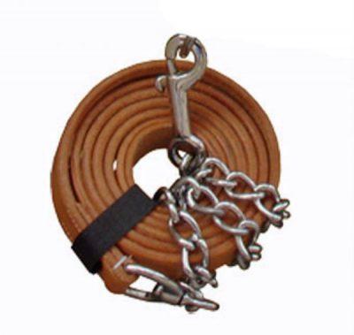 Talutusköysi ketjulla nahkaa Halter Chain