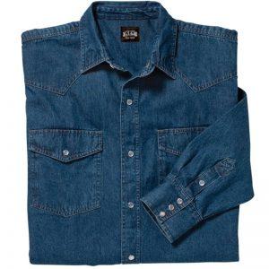 Key Men's Denim Western Shirt paita