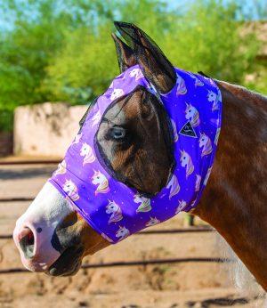 Hyönteismaski Professional's Choice Comfort Fit Fly Mask Unicorn