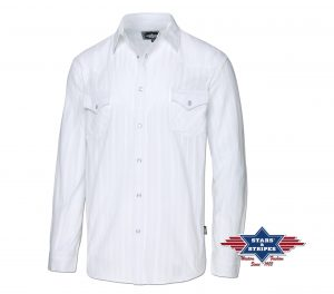 Stars & Stripes Mens Robin White paita