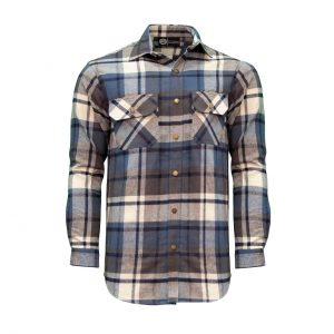 Key Men's Fort Scott Plaid Flannel Shirt flanellipaita, Indigo Clay