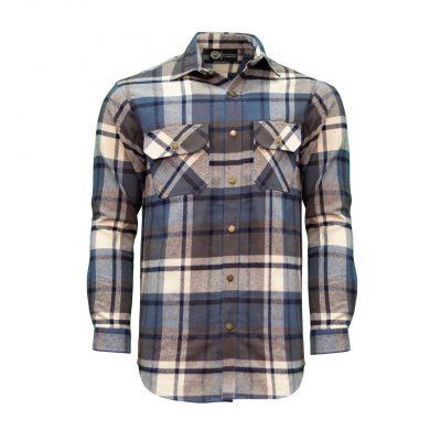 Key Men's Fort Scott Plaid Flannel Shirt flanellipaita, Indigo Clay