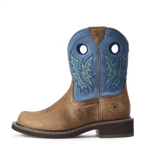 Ariat Women's Fatbaby Heritage Cowgirl Caramel/Bluebird