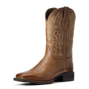 Ariat Women's Cattle Drive Western Boot, Dusty Brown