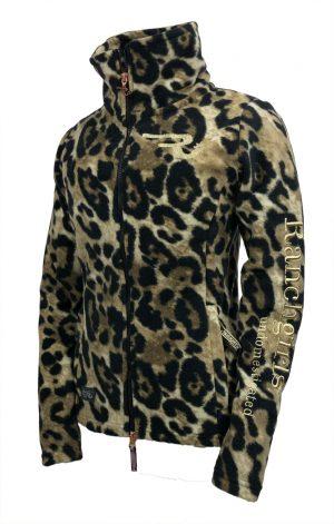 Ranchgirls Fleece Jacket Grace Leopard fleece