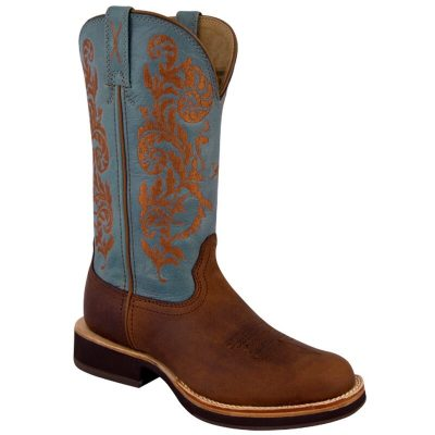 Twisted X Women's Horseman Boot Peanut/Sky Blue