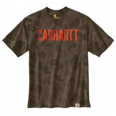 Carhartt Men's Workwear Camo Block Logo T-paita