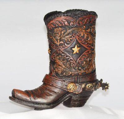 Kynäteline Pen Holder Cowboy Boot Stars