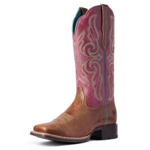 Ariat Women's Primera StretchFit Western Boot, Dark Tan